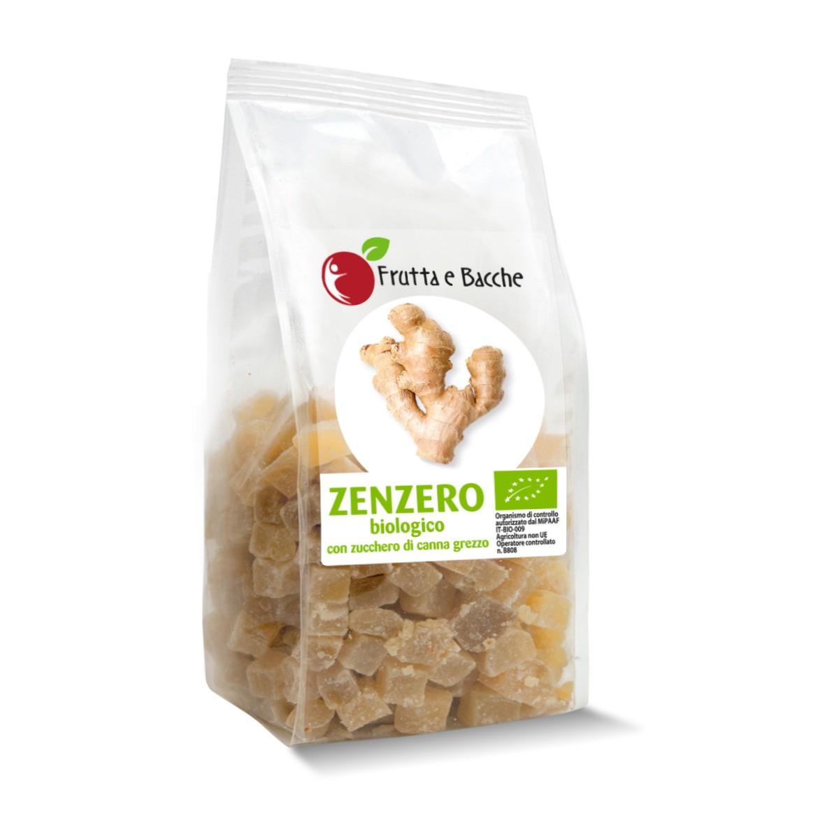 Zenzero Candito Biologico A Cubetti Shop Frutta E Bacche