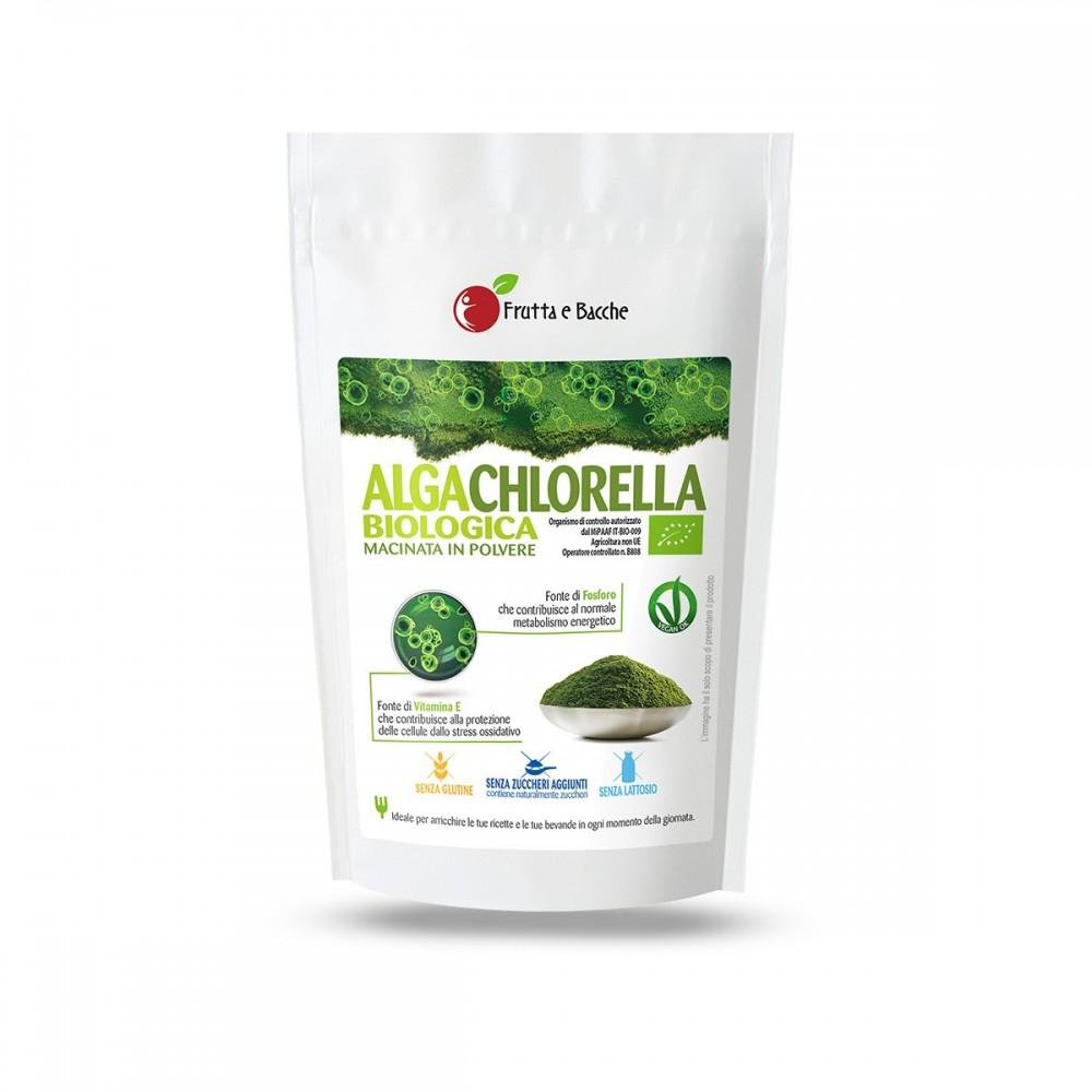 Alga chlorella biologica macinata in polvere