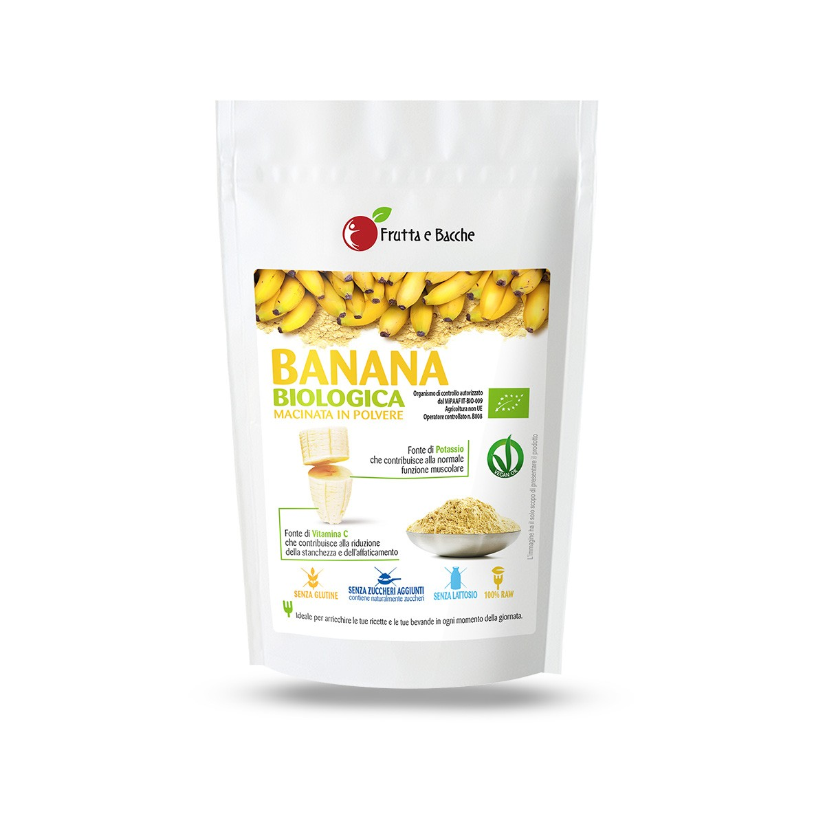 Polvere di banana biologica macinata vendita online for Frutta online