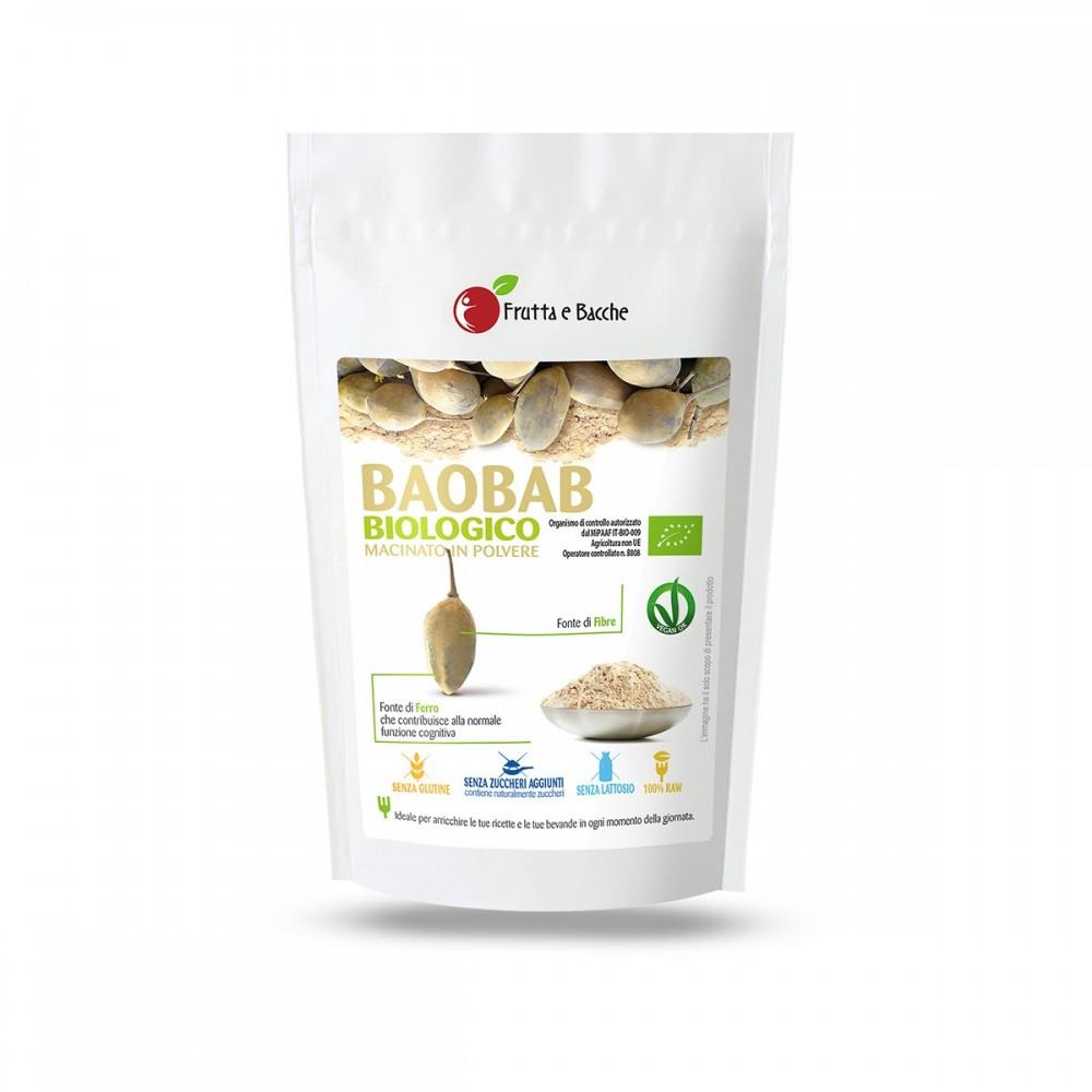 Baobab biologico macinato in Polvere