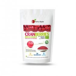 Cranberries biologici macinati in polvere